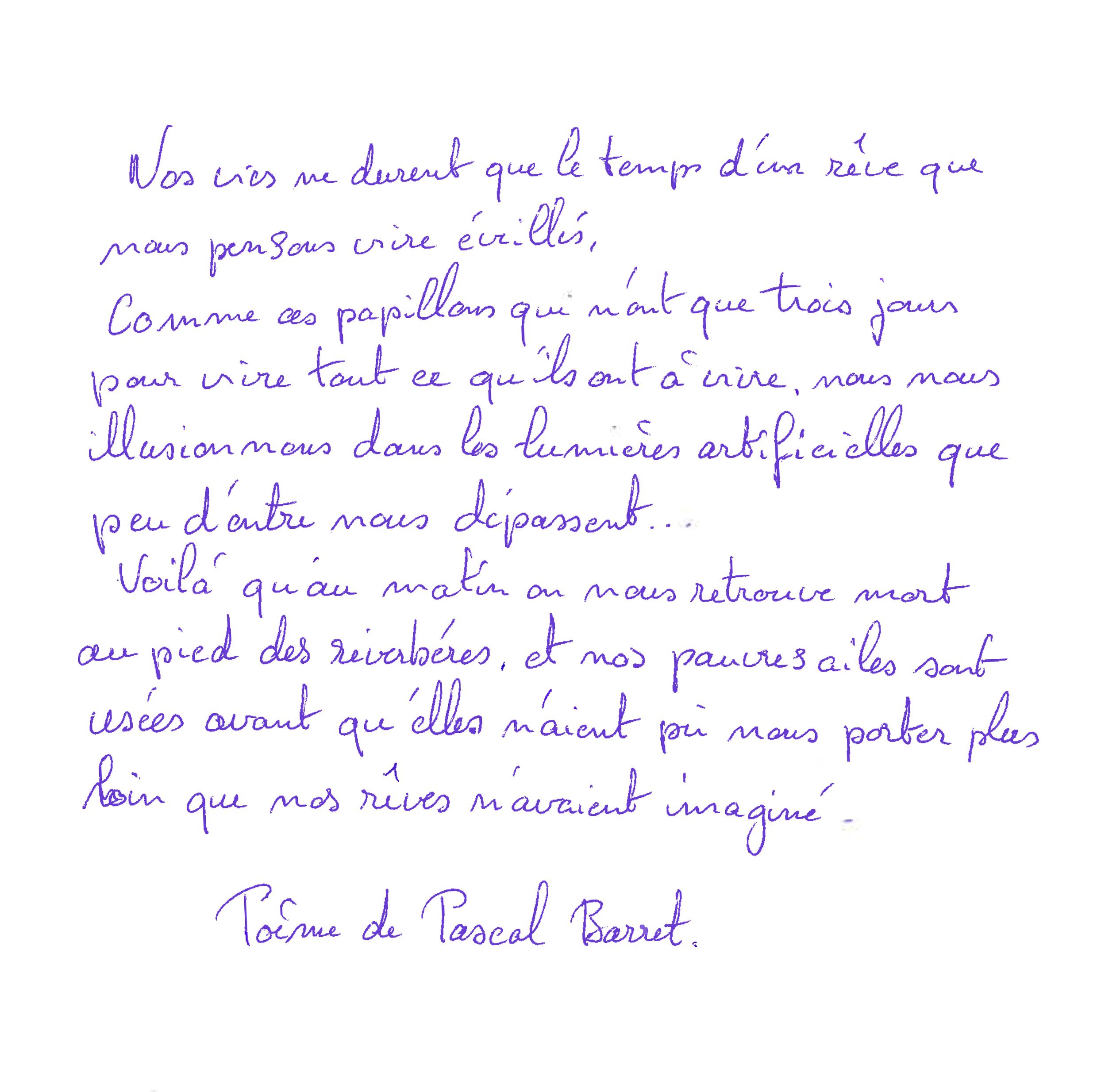 poème P.Barret