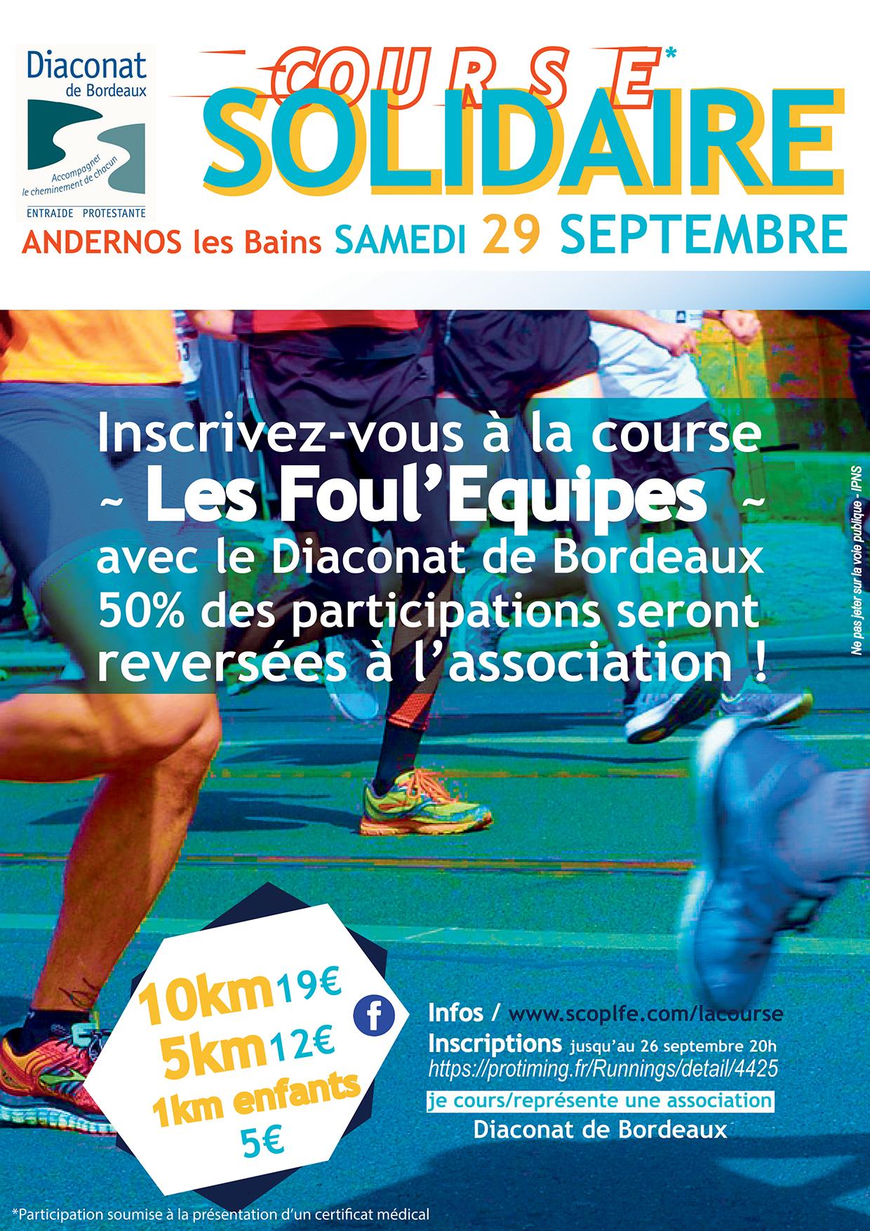 Foul'Equipes course solidaire Bordeaux-Bassins d'Arcachon